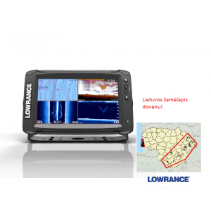 Echolotas Lowrance Elite-9 Ti Med/High/TotalScan™