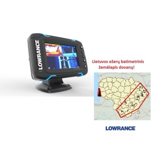 Echolotas Lowrance Elite-5 Ti Mid/High/TotalScan