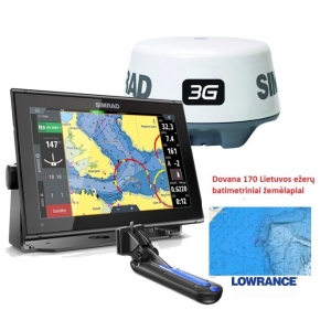 GO12 Multi-function display su Active Imaging 3-in-1 Sonaru ir 3