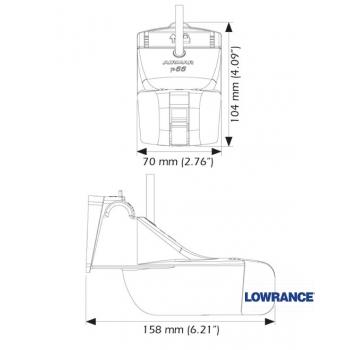 Sonaras Lowrance AIRMAR P66 9pin 50/200kHz - zukles